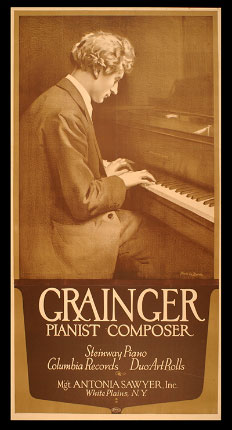 Grainger's career is represented by publicity material, business documents, reviews and an almost complete set of concert programs featuring Grainger's performances from 1894 to 1960.
