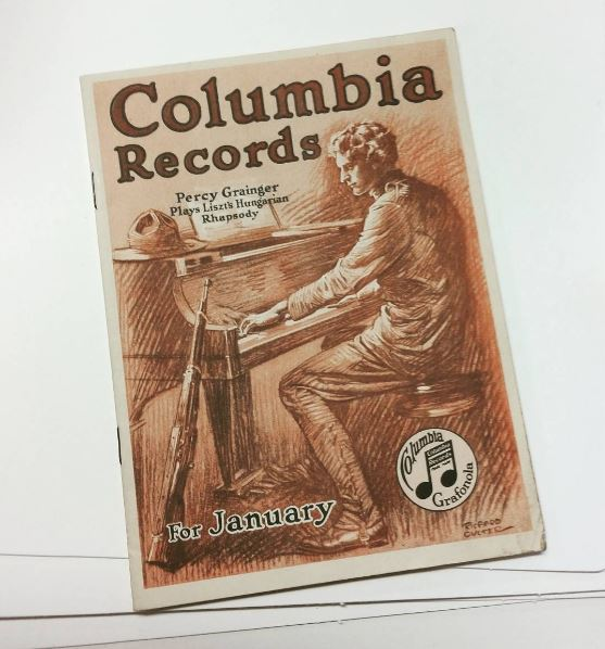 Columbia records magazine with Grainger on the cover