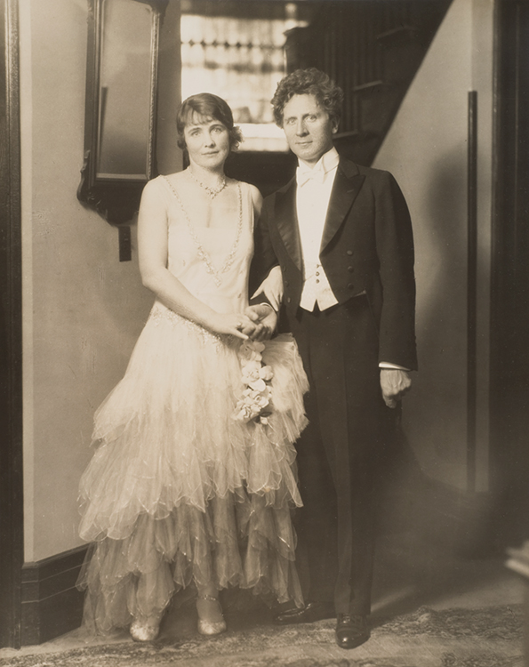 Percy Grainger and Ella Viola Ström on their Wedding Day, 9 August 1928.