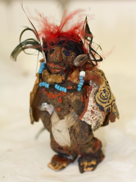 An image of a male figurine belonging to Percy Grainger, sourced on a visit to Denmark.