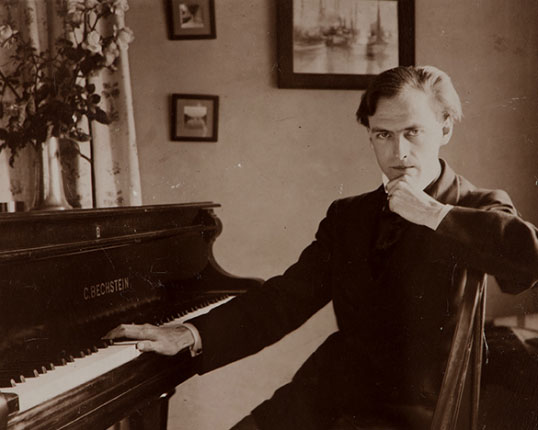 Unknown photographer. Grainger was a loyal friend to the composers he met whilst studying in Frankfurt and championed their work at every opportunity.